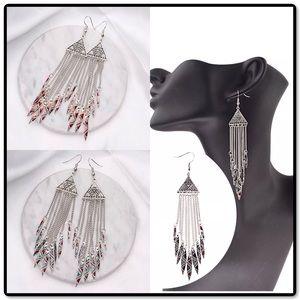 ♨️SALE Boho Aztec Dangle Enamel Earrings